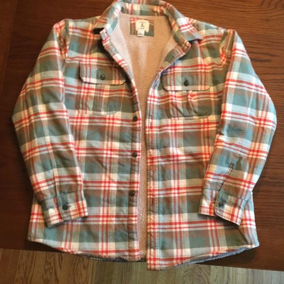 ca72d4256 Lands' End Other - Lands' end flannel Sherpa lined shirt/jacket